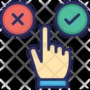 Cancel Confirm Interact Icon