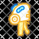Self Adhesive Marker Gun Icon