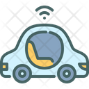 Self Driving Car Futuristic Icon