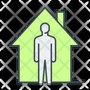Self Quarantine Social Distancing Quarantine Icon