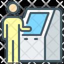 Self Service Terminal Atm Machine Terminal Icon