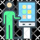 Self Service Terminal Untact Untact Marketing Icon