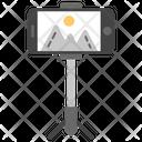 Selfie Stick Monopod Accessory Icon