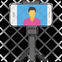 Selfie Stick Taking Photo Self Photo Icon