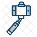 Mobile Camera Selfie Stick Selfie Capturing Icon