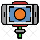 Selfie Stick Smartphone Photographer Icon