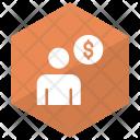 Account Dollar User Icon