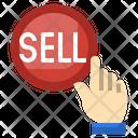 Selling Click Press Finger Button Icon