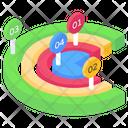 Circle Chart Pie Chart Semi Circle Infographic Icon