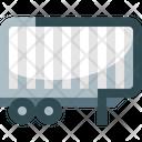 Semi Trailer Logistics Truck Icon