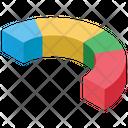 Semicircle Chart Pie Chart Progress Chart Icon