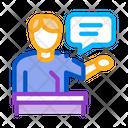 Seminar Speaker Meeting Icon