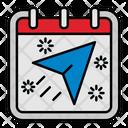 Send Airplane Calendar Icon