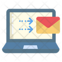 Laptop Send Email Send Mail Icon