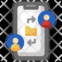 Send File Smartphone Mobile Phone Icon
