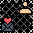Send Love Mail Icon
