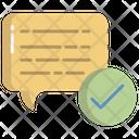 Artboard Verified Message Verified Chat Icon