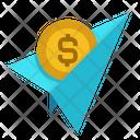 Paper Plane Dollar Icon