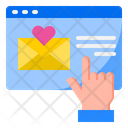 Send Valentine Mail Icon