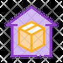 Sending Parcel Warehouse Icon