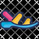 Men Sandals Shoes Icon