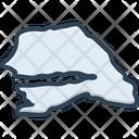 Senegal Africa Border Icon