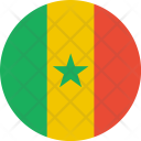 Senegal Flag World Icon