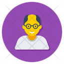 Senior Citizen Old Woman Grandfather Icon