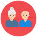 Senior Citizen Senior People Relationship Icon