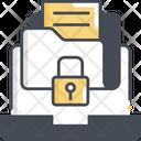 Sensitive Information Folder Lock Data Icon
