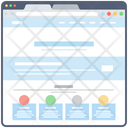 Seo Website Sitemap Web Window Icon
