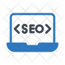 Seo Marketing Laptop Icon