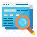 Seo Search Glass Icon