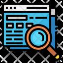 Seo Search Glass Icon