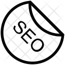 Seo Sticker Tag Icon