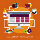 Seo Content Management Icon