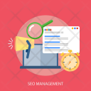 Seo Management Time Icon