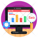 Data Analysis Data Monitoring Seo Monitoring Icon