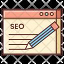 Seo Copywriting Content Copywriting Icon