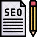 Seo File And Pencil Icon