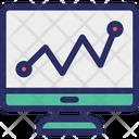 Seo Graph Line Graph Monitor Icon