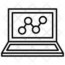 Seo Graph Line Graph Laptop Icon