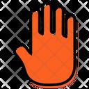 Seo Hand Plan Presentation Icon