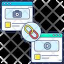 Seo Link Inbound Link Linked Website Icon