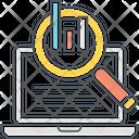 Seo Monitoring Chart Diagram Icon