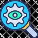 Seo Monitoring Monitoring Supervision Icon