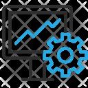 Seo Optimization Monitor Icon