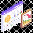 Seo Optimization Data Analytics Analytical Management Icon