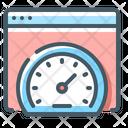 Seo Performance Speedometer Website Speed Icon