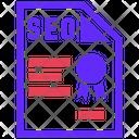 Seo Qualifications Seo Plan Icon